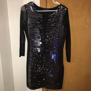 a sparkle black dress